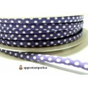 Apprêt 50cm ruban cordon spaghetti 7mm ref FFcollection 4046-47 violet
