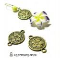 Apprêt bijoux10 pendentifs magnifique connecteur fleurs ref 96 Bronze