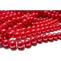 Offre spéciale : 1 fil environ 85 perles de verre nacre rose flash 10mm ref B57