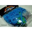 SACHET DE 260 ELASTIQUES POUR RAINBOW LOOM Bleu et accessoires