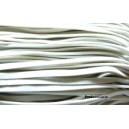 Apprêt mercerie:10 mètres de cordon 002Y-22 plat en faux daim suédine Blanc
