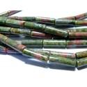 Apprêt et perles: 10 tubes Unakite en 4 par 13mm