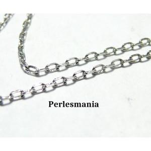 Apprêt bijoux 1 m PP ref CHC09Y Chaine maille fine Argent platine