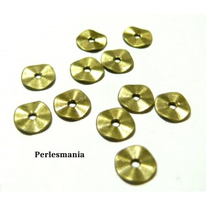 Apprêts et perles: 200 perles intercalaires 2A8805 mini vague Bronze