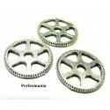 Apprêt bijoux 10 pendentifs 2B9307 steampunk rouage Viel argent