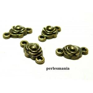 Apprêt bijoux 40 pendentifs 2Y2806 connecteur rose ovale Bronze
