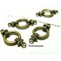 Apprêt bijoux 30 connecteurs ronds noeuds marin travaillées 2D8844 Bronze