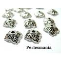 Apprêt pour bijoux: 40 coupelles calottes caps carré 2A2350