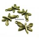 Apprêt bijoux 30 pendentifs libellule 2D2813 Bronze