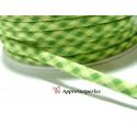 Apprêt 1 m ruban cordon spaghetti 7mm ref FFcollection 512 vichy vert