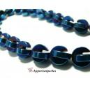 Apprêts et perles: 10 perles Hématite PAC MAN ( 20 pièces au total ) 10mm Bleu nuit