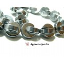 Apprêts et perles: 10 perles Hématite PAC MAN ( 20 pièces au total ) 10mm Argenté