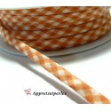 Apprêt 50cm ruban cordon spaghetti 7mm ref FFcollection 509 vichy orange