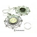 4 pièces: 2 Boucles d'oreille retro PP ref 26744 et 2 cabochons