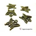 Apprêt pour bijoux: 10 pièces pendentif papillon Bronze ref A0190