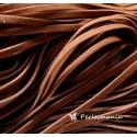 10 mètres de cordon plat en faux daim suédine marron fauve 002Y-19