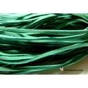 5 mètres de cordon plat en faux daim suédine vert emeraude 002Y-9