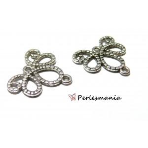Fournitures bijoux: 10 multi connecteur pendentif rétro vieil argent P11609Y Vieil Argent