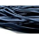5 mètres de cordon plat en faux daim suédine bleu foncé 001Y-23