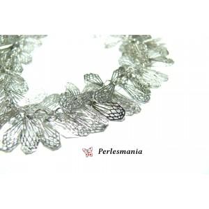 Fournitures bijoux: 20 cm très belle maille multi chaine diamants qualité extra PP