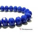 Perles pour bijoux: 20 Rondelles 10 par 8mm Cristal imitation 2J1752 bleu nuit facettée