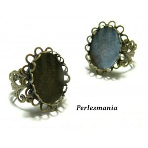 Support de bague: 10 bagues double vague anneau dentelle 13 par 18 Bronze