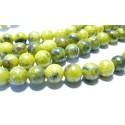 Perles pour bijoux: 10 perles turquoise africaine jaune 8mm