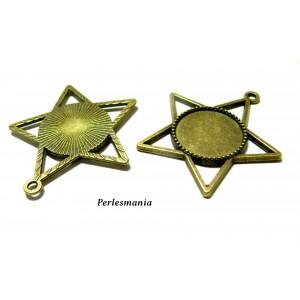 2 magnifiques pendentifs etoile bronze 2D2922