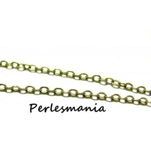 OFFRE SPECIALE 2 mètres P002Y Chaine maille Bronze 3 par 4 mm