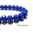 Perles pour bijoux: 20 Rondelles 4 par 6mm verre facettée  2J1772 bleu nuit