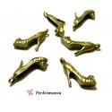 Fournitures pour bijoux: 10 breloques escarpins bronze P15363
