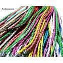 Colliers corde cirée, organza, soie tissée