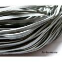 Apprêt mercerie: 5 mètres de cordon 002Y-6 plat en faux daim suédine grise