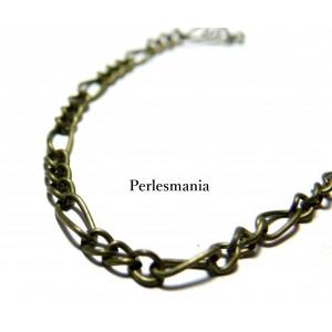 OFFRE SPECIALE 2 mètres PCHSM005Y Chaine maille Bronze 3,5 par 7 mm