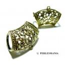 Apprêt bijoux 10 magnifiques bélières 2B2345 accroche foulard Vieil Or