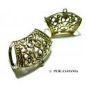 Apprêt bijoux 1 magnifiques bélières 2B2345 accroche foulard Vieil Or