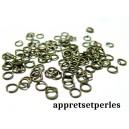 500 anneaux de jonction 8 mm par 0.7 mm  bronze pour création de bijoux