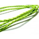 10 m de cordon imitation cuir Vert PS5013 pour création de bijoux