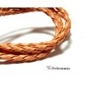 10 m de cordon simili cuir orange saumon PS5011 pour création de bijoux