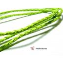 2 m de cordon imitation cuir Vert PS5013 pour création de bijoux