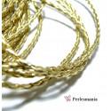 2 m de cordon simili cuir doré PS5056 pour création de bijoux