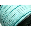 2 m de cordon en suédine aspect daim  Bleu  ciel PG113