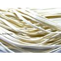 Apprêt mercerie: 5 mètres de cordon 002Y-36 plat en faux daim suédine crème