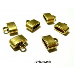 Apprêt et perles 30 pieces P9848 coupelles caps embouts de cordon Vieil OR