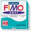 Loisirs créatifs: 1 pain 56g pate polymère FIMO SOFT BLEU MENTHE 8020-39