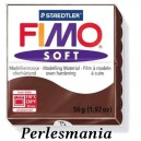 Loisirs créatifs: 1 pain  56g pate polymère FIMO SOFT CHOCOLAT REF75
