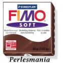 Loisirs créatifs: 1 pain 56g pate polymère FIMO SOFT CHOCOLAT 8020-75