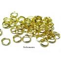 100 anneaux de jonction 6 mm par 0.7 mm DORE pour création de bijoux