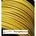10m de cordon en suédine aspect daim  Jaune canaris PG136 qualité