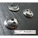 10 pendentifs Smiley argent Platine OB14731 Fournitures loisirs créatifs